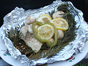 cooked chicken in foil